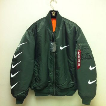nike x alpha industries ma 1 trending bomber jacket-1