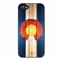 Colorado State Flag Wood Design iPhone 5 Case