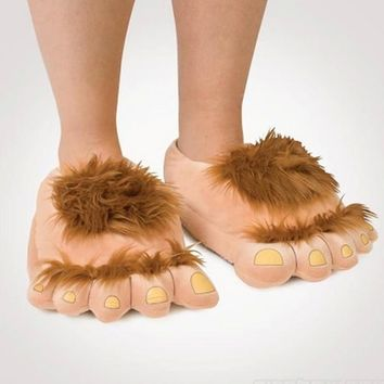 Furry Adventure Warm Slippers