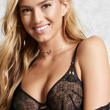 Medallion Sheer Lace Bra