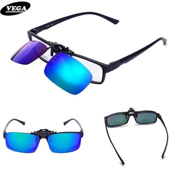 VEGA Spring Polarized Clip On Sunglasses For Prescription Glasses Over Sunglasses Flip Up Glasses Clip On Shades  110