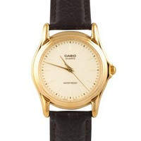 American Apparel - MTP-1096Q-9A Casio Men's Leather Watch