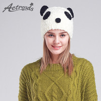 [AETRENDS] 2016 Cute Panda Beanies Winter Beanie Hats for Women Novelty Caps Z-3080