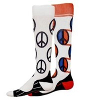 Peace Sign Compression Running Socks
