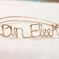 Custom Wire On Fleek Bracelet (MADE TO ORDER) On Point, Silver Bracelet, Gold Bracelet, Copper Bracelet, Personalized Bracelet, Swag