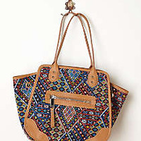 Anthropologie - Diamond Tapestry Shoulder Bag