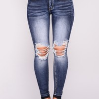 Kneed You Skinny Jeans - Dark