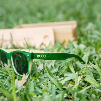 Woodies x KCCO Limited Edition Green Bamboo Sunglasses