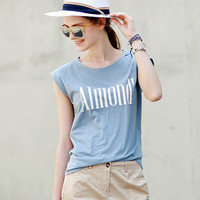 Causal Letters Printed T-Shirt