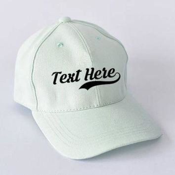 Custom Dad Hats Message - Print hat for show your Message -Baseball Cap , Hip Hop , Po