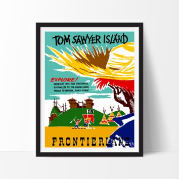 Tom Sawyer Island, Disneyland Poster