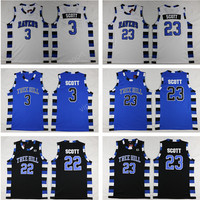 Men Movie One Tree Hill Jerseys Basketball 3 Lucas Scott 23 Nathan Scott Jersey Sport Purple Black White Stitched High Quality