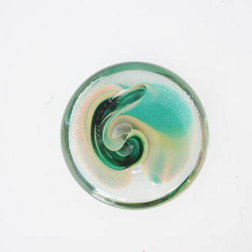Glass paperweight Vintage Art Glass Paperweight Hand Blown Jim Karg Paperweight