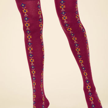 Stems For Your Stems Thigh Highs in Berry