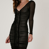 Don't Be Long Ruched Bodycon Dress