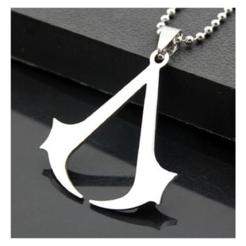 Fashion Stainless Steel Cospaly Assassins Creed Pendant Necklace
