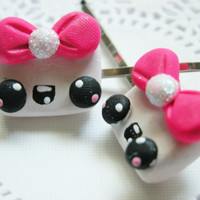 Kawaii Bobby Pin Set Kawaii Marshmallow Girl Hair Accessories Hair Clip
