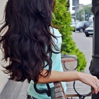 "LONG and THICK - 26"" Inch Dark Brown Clip In Human Hair Extensions"