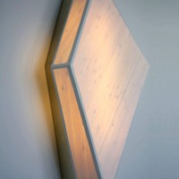 Wall-Mounted Sconce in Bamboo and Brass, Handmade, Andrea Claire Studio
