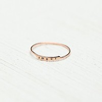 Bittersweet Womens Etched Letter Ring