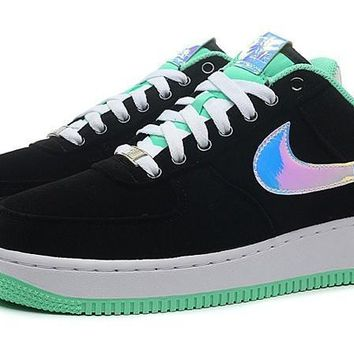 PEAPON Nike Air Force 1 488298-029 Mint Green Black For Women Men Running Sport Casual Shoes Sneakers