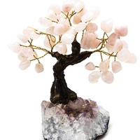 Rose Quartz Bonsai Tree