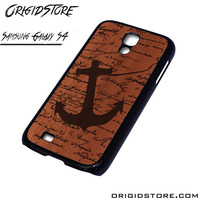 Wood Anchor Quote Case For Samsung Galaxy S4 Case