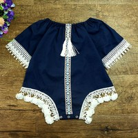 2017 new Baby girls romper girls kids rompers for toddler girls romps Vintage Baby Romper baby summer clothes