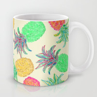 Pineapple Pandemonium (multi) Mug by Lisa Argyropoulos