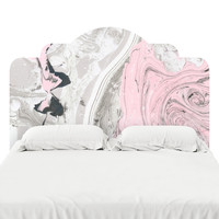 Rose Marble Headboard Decal
