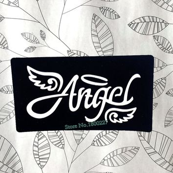 Angel Wings Letter Henna Indina Tattoo Template Waterproof Mehndi Tattoo Paste Stencils For Airbrush Painting Tatoo Makeup Tools