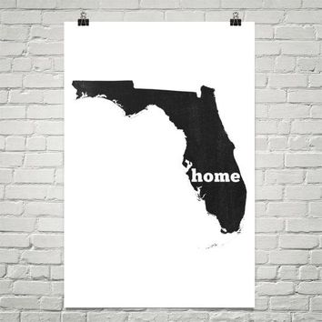 Florida Home State Map Art