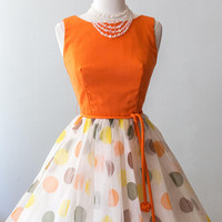 Vintage 1960s Dress  - 60s Happiest Day Of The Year Dress 1960s Balloon Print Party Dress Novelty Print // Waist 24