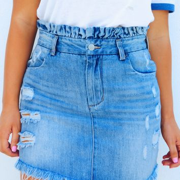 American Sweetheart Skirt: Denim