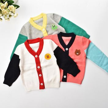 Rampampam Kids clothes 2017 baby sweater knitwear boys cardigan