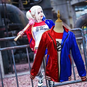 Batman Dark Knight gift Christmas New Batman Suicide Squad Harley Quinn Cosplay Costume Clothing Women Arkham Asylum City Joker Movie Halloween Anime Top Jacket AT_71_6