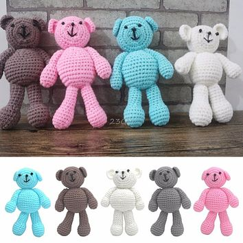 2017 Cute Newborn Baby Girls Boys Photography Prop Photo Crochet Knit Toy Cute Little Bear MAY17_35