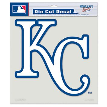 "KANSAS CITY ROYALS ""KC"" 8""X8"" COLOR DIE CUT DECAL BRAND NEW WINCRAFT"