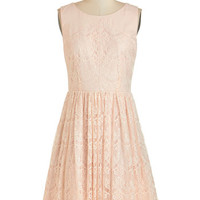 Roll in with the Punch Dress in Blush | Mod Retro Vintage Dresses | ModCloth.com