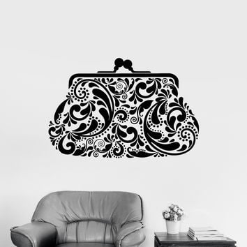 Vinyl Wall Decal Accessory Shop Purse Bag Vintage Style Stickers Unique Gift (1017ig)