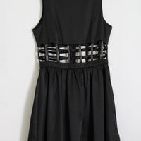 Satin Chain Caged Dress