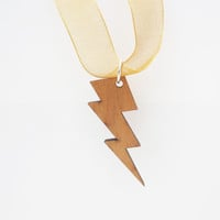 Lightning Bolt Necklace Cherry Lightening Pendant Zeus Storm Electrical Shock Laser Cut Jewelry The Flash CELEBRATION SALE! Buy 1 Get 2 Free
