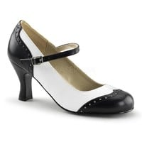 Pleaser Female 3 Inch Kitten Heel Round Toe Spectator Maryjane Pump FLAP25