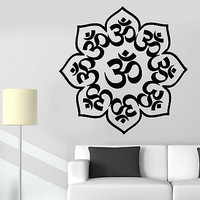 Wall Sticker Lotus Mandala Om Chakra Zen Meditation Vinyl Decal (z2928)