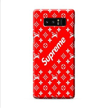 louis vuitton Supreme red Samsung Galaxy Note 8 case