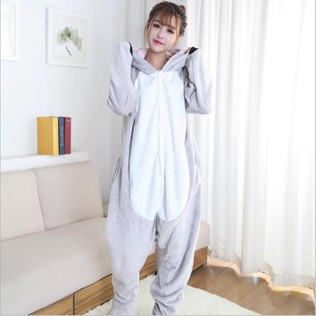 Special Offe Women's Character Pajama Adult Full Sleeve Hooded Pajama Sets Footed Pyjamas For Adults Animal Pajamas One Piece