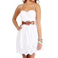 White Thin Straps Sundress