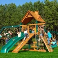 Gorilla Playsets Blue Ridge Frontier Wood Swing Set
