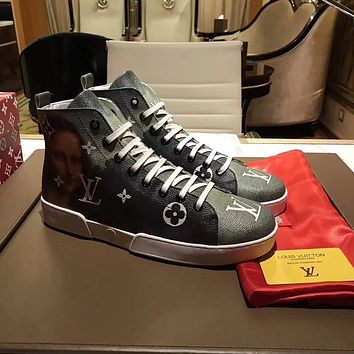 Best Online Sale Supreme x LOUlS VUlTTON LV Fashion Stellar Sneaker Boot Luxury High t