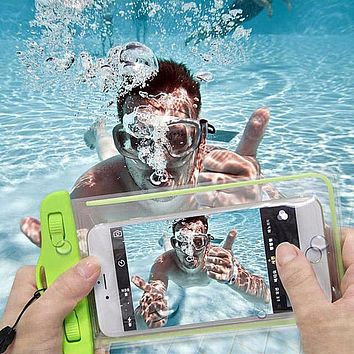 Waterproof soft PVC phone bags case for iphone 6s 6 summer clear pouch for huwawei Ascend P9 lite P8 pocket bags for LG G5 G4 G3